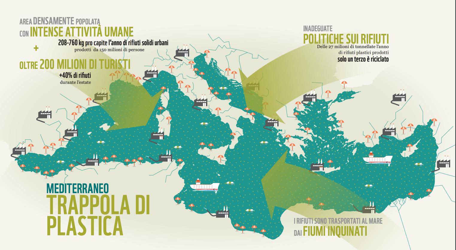Mare Mediterraneo Cartina.Plastica Nei Mari Focus Sul Mediterraneo Blue Eco Line